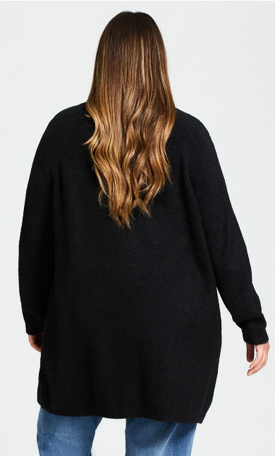Cuddle Longline Cardigan - black