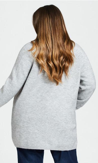Cuddle Longline Cardigan - gray