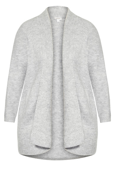 Cuddle Longline Cardigan - gray