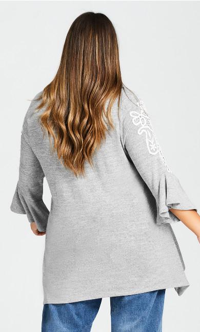 Liana Lace Detail Tunic - gray