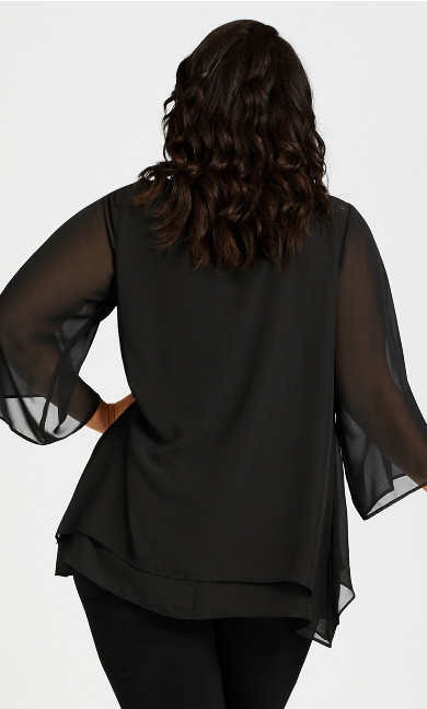 Amy Tiered Top - black