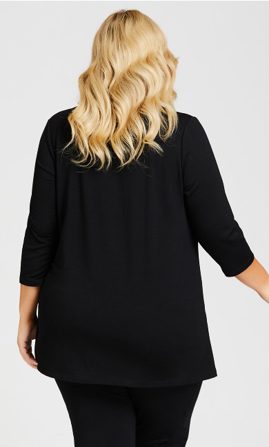 Taj Color Wrap Top - black