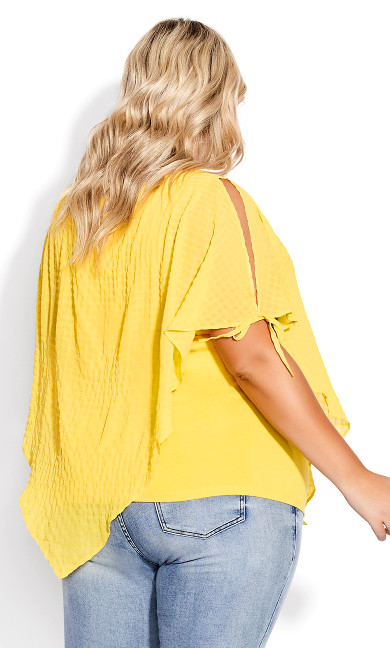 Shelly Overlay Top - sunshine