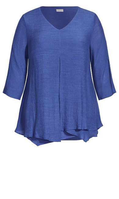 Mila Split Front Top - violet blue
