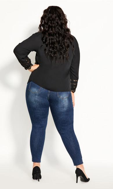 Lace Desire Shirt - black