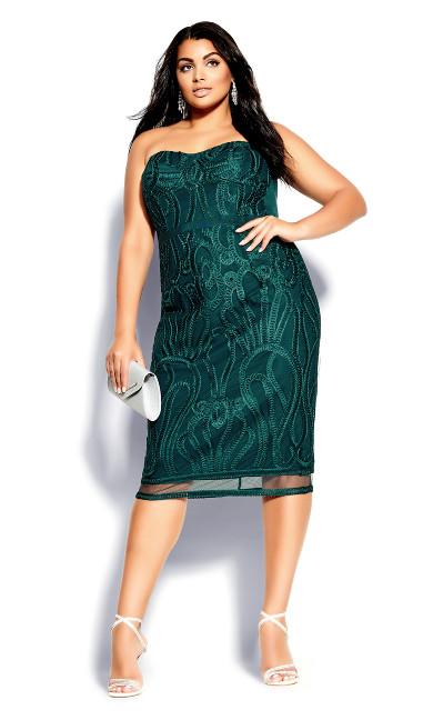 Plus Size Antonia Dress - emerald
