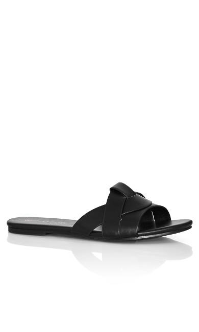Plus Size Spark Slide - black