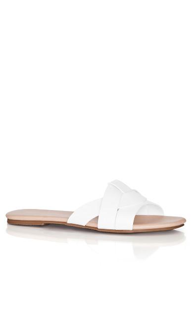 Plus Size Spark Slide - white