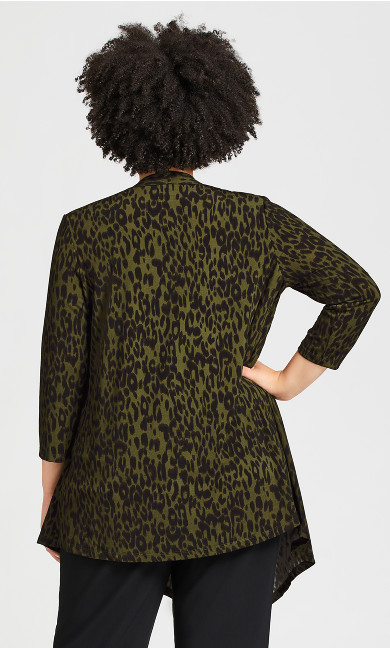Tiarne Duet Top - khaki leopard