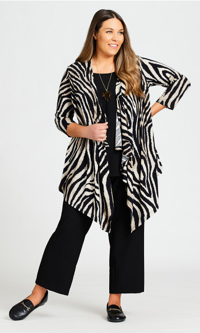 Plus Size Tiarne Duet Top - zebra