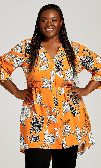 Plus Size Samara Blouse - golden