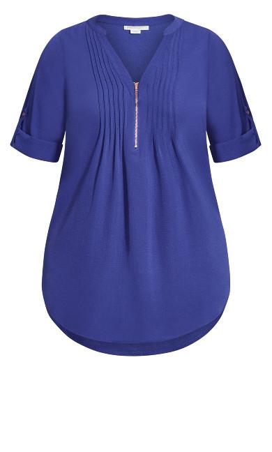 Piper Shirt - cobalt