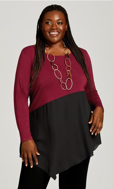 Plus Size Carla Top - berry