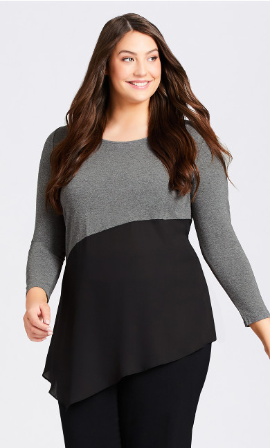 Plus Size Carla Top - charcoal