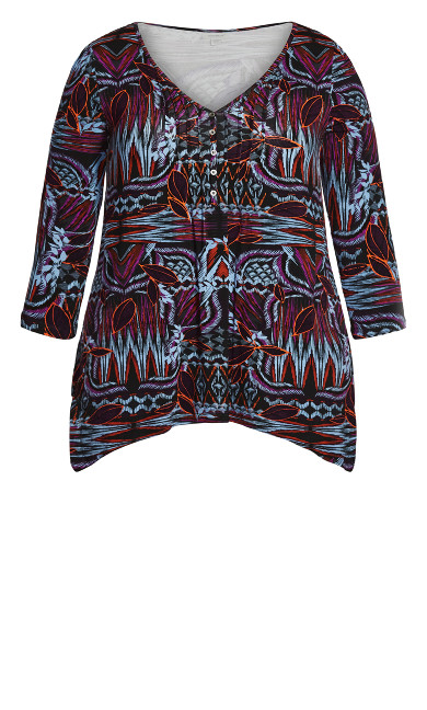 Isla Top - black batik