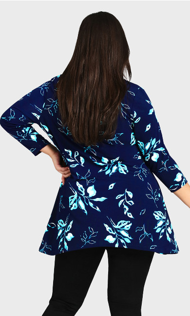 Alana Tunic - navy floral