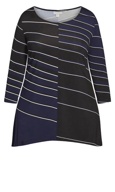 Alana Tunic - black stripe