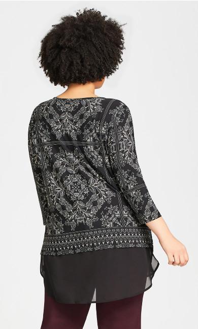 Eden Tunic - black scarf