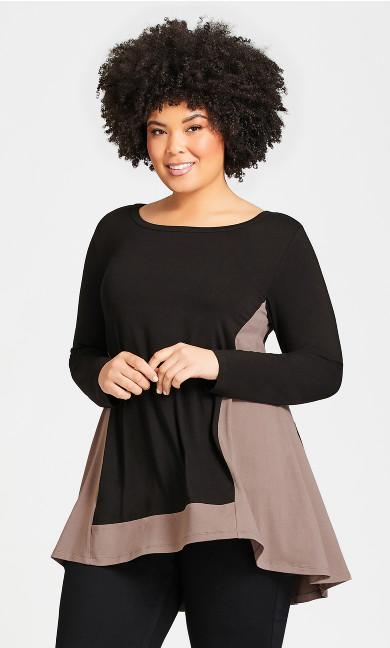 Plus Size Elsa Tunic - black