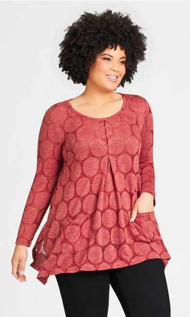 Plus Size Erin Tunic - berry