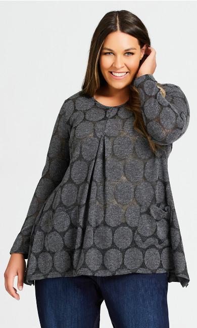 Plus Size Erin Tunic - charcoal
