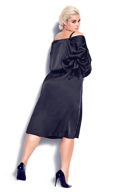 Slinky Midi Robe - black