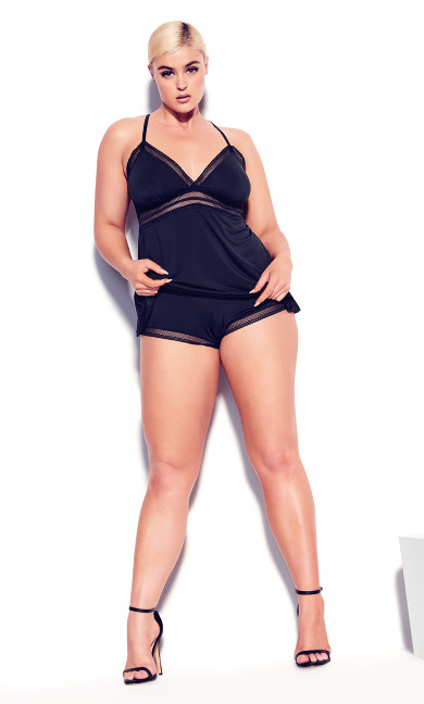 Tia Short PJ Set - black