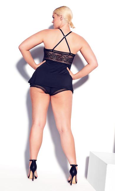 Tia Short PJ Set - black