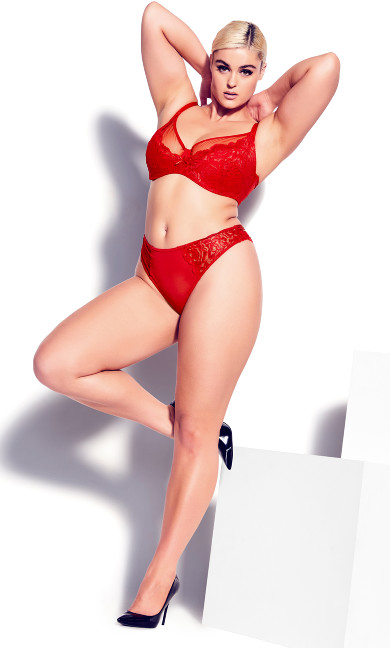 Duet Strappy Panty - ruby red