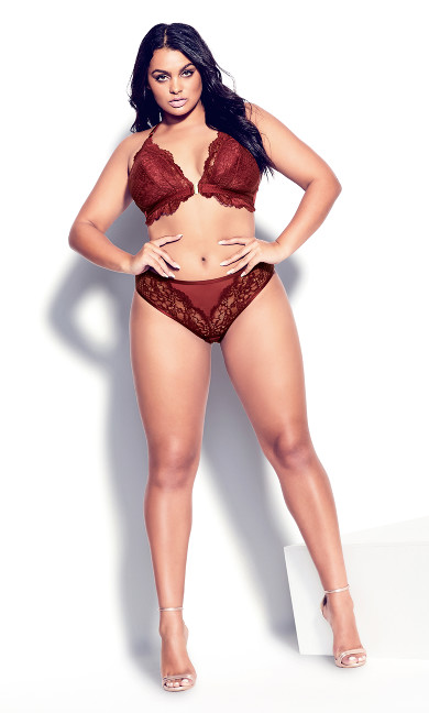 Lucinda Cheeky Shorty - merlot