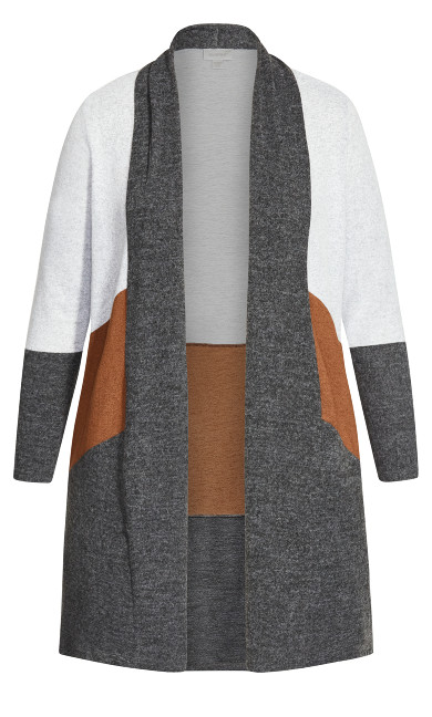 Cora Cardigan - charcoal spice