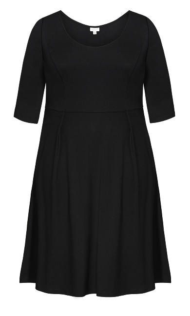 Demi Skater Dress - black