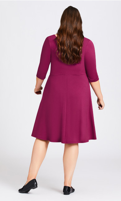 Demi Skater Dress - plum