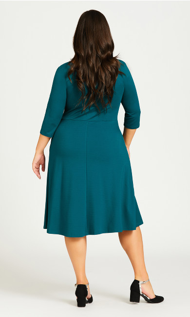 Demi Skater Dress - teal