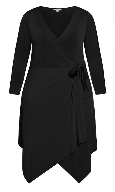 Sofia Plain Dress - black