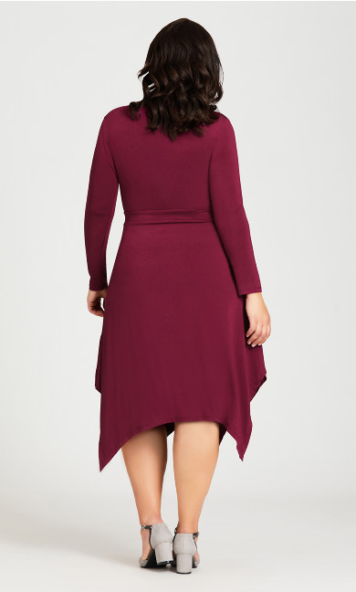 Sofia Plain Dress - plum