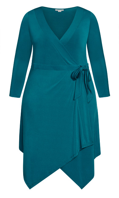 Sofia Plain Dress - teal