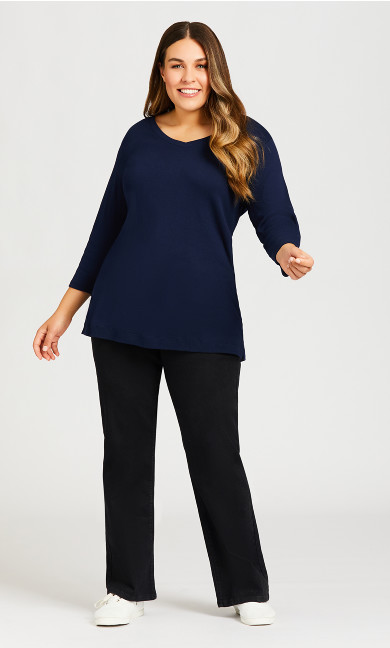 Plus Size Clarissa Jean Black - average
