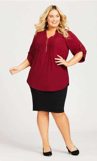 Plus Size Hazel Skirt - black