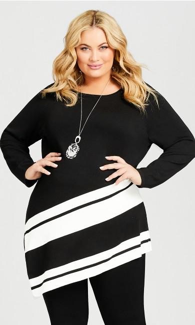 Plus Size Ivory Sweater - black