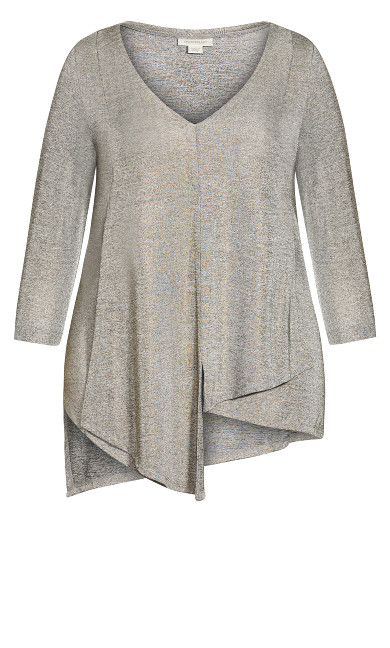 Drape Metallic Tunic - gold