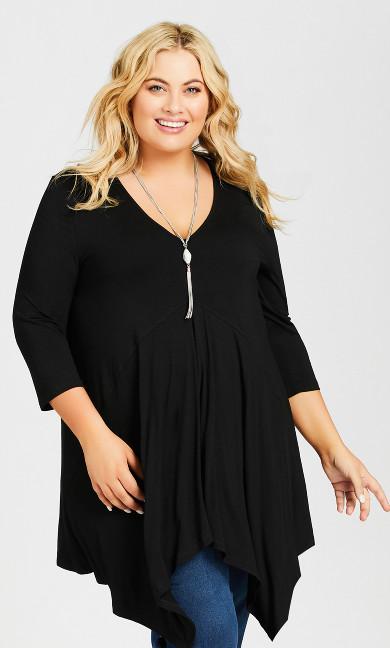 Plus Size Finley Tunic - black