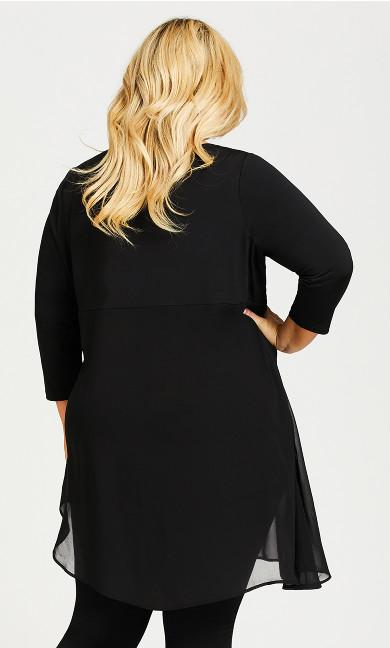 Layla Drape Tunic - black