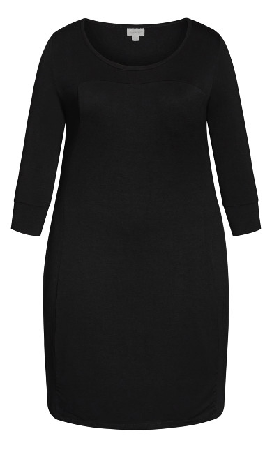 Celine Plain Dress - black