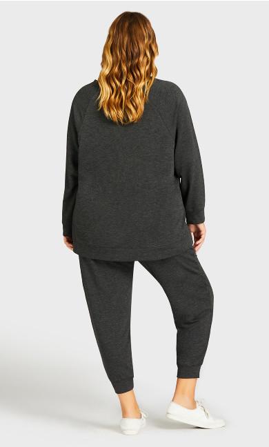 Pocket Lounge Pant Charcoal - average