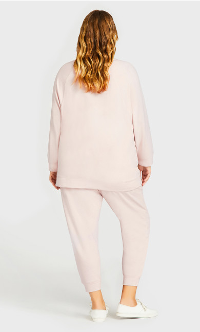 Pocket Lounge Pant Pink - average