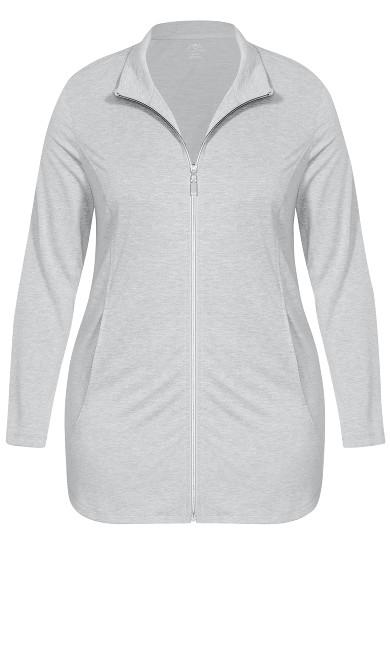 Zip Swing Jacket - gray