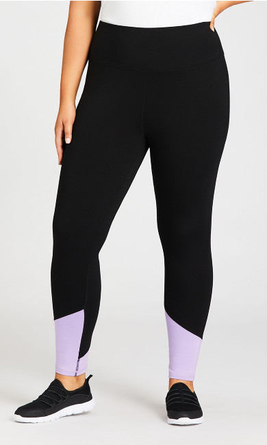 Legging Color Block Black Lilac - average