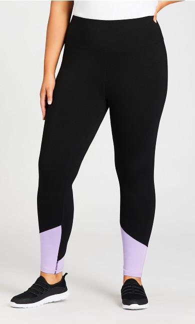 Legging Color Block Black Lilac - average