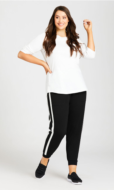 Plus Size Active Sweat Pant - black